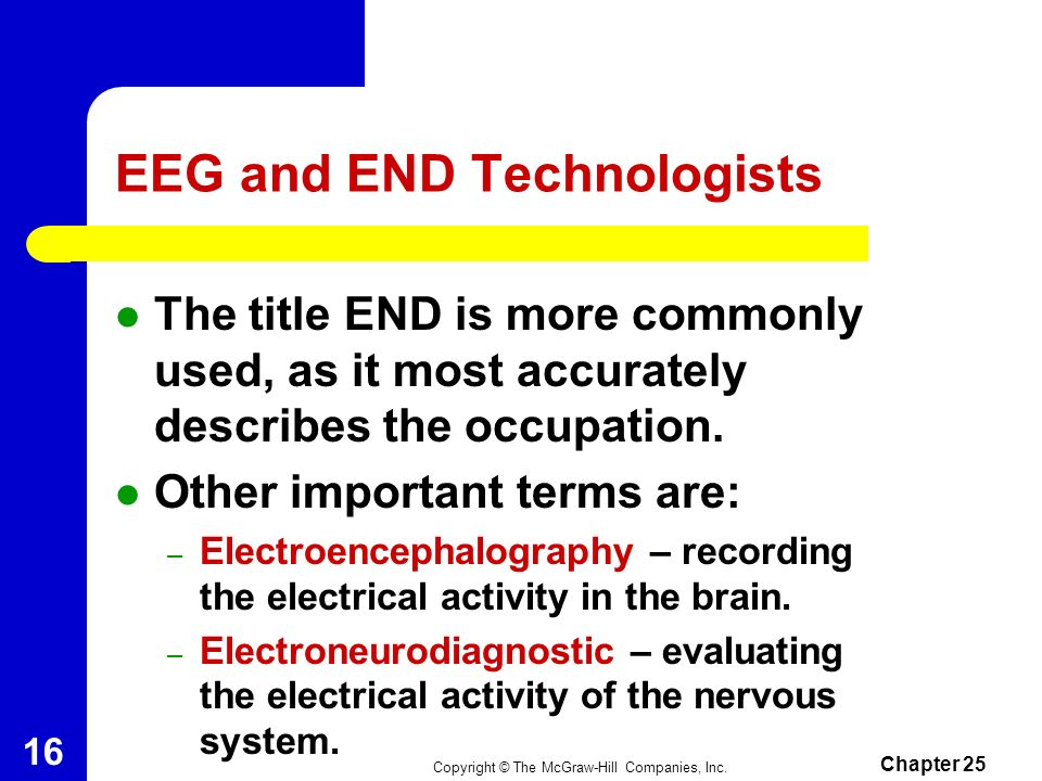 EEG and END Technologists