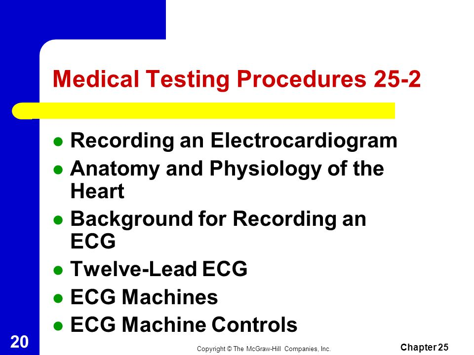 Medical Testing Procedures 25-2
