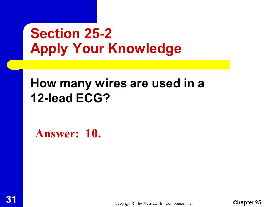 Section 25-2 Apply Your Knowledge