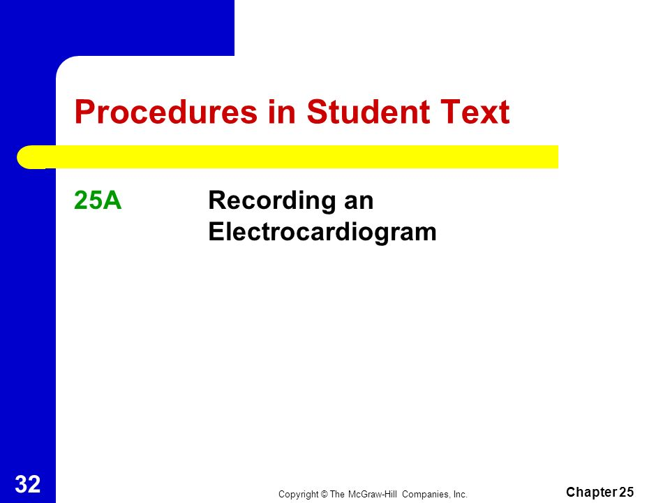 Procedures in Student Text