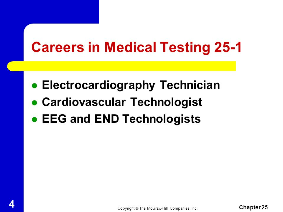 Careers in Medical Testing 25-1