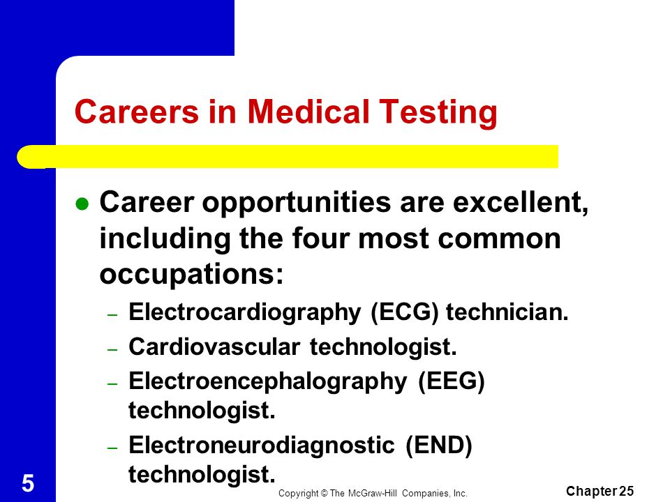 Careers in Medical Testing