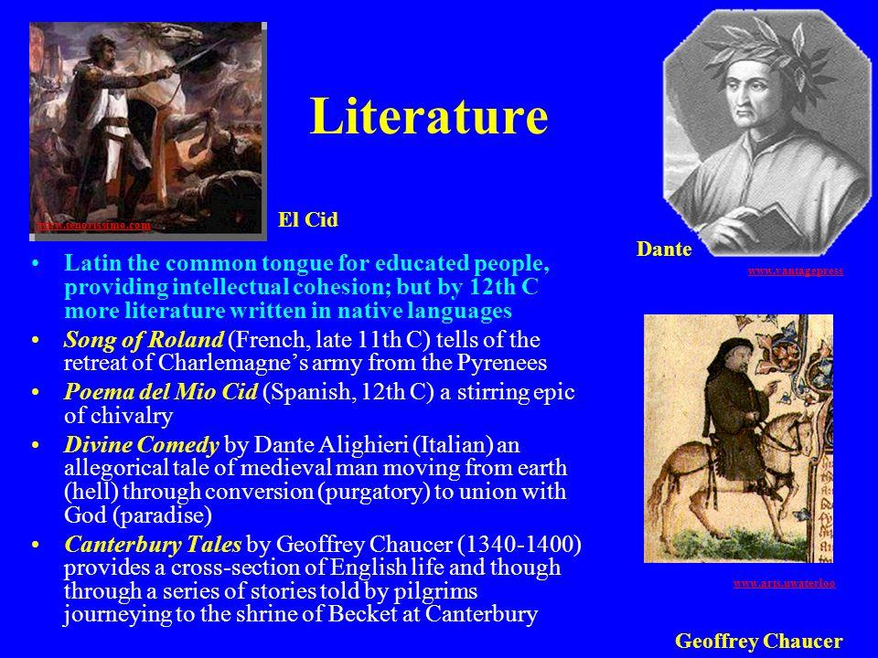 Literature El Cid. www.tenorissimo.com. Dante.