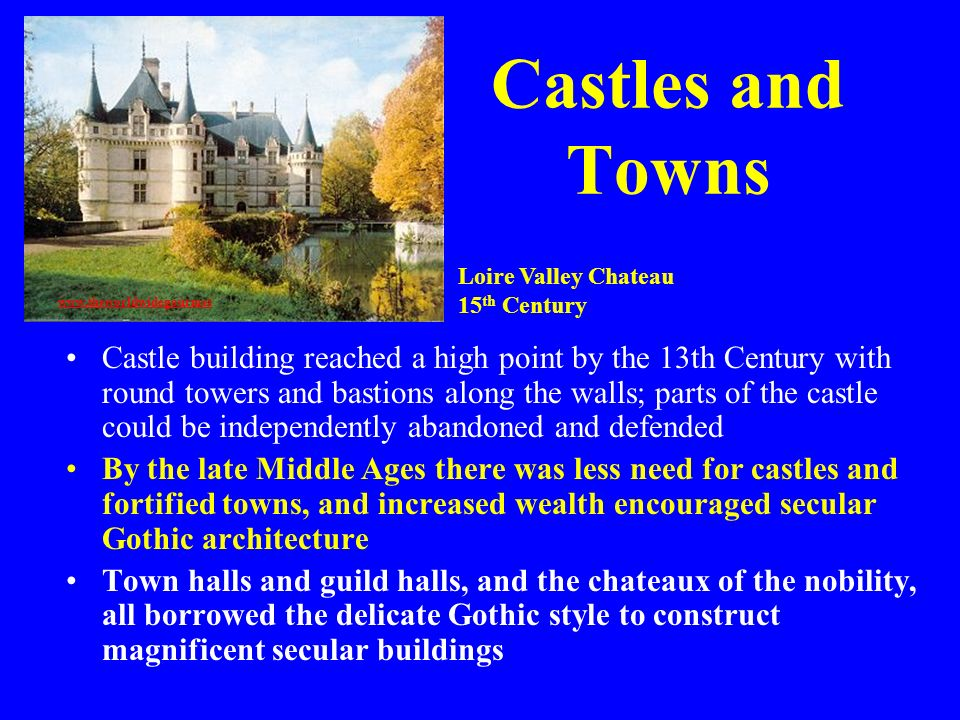 Castles and Towns Loire Valley Chateau. 15th Century.