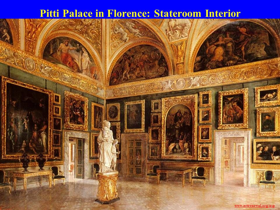 Pitti Palace in Florence: Stateroom Interior