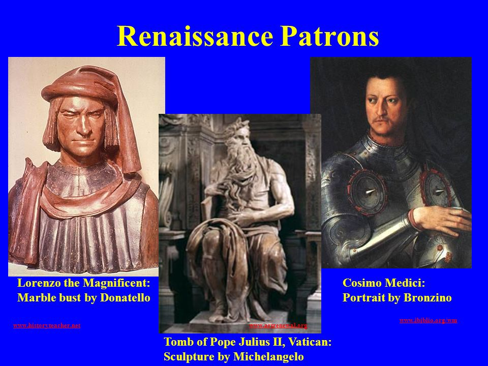 Renaissance Patrons Lorenzo the Magnificent: Marble bust by Donatello