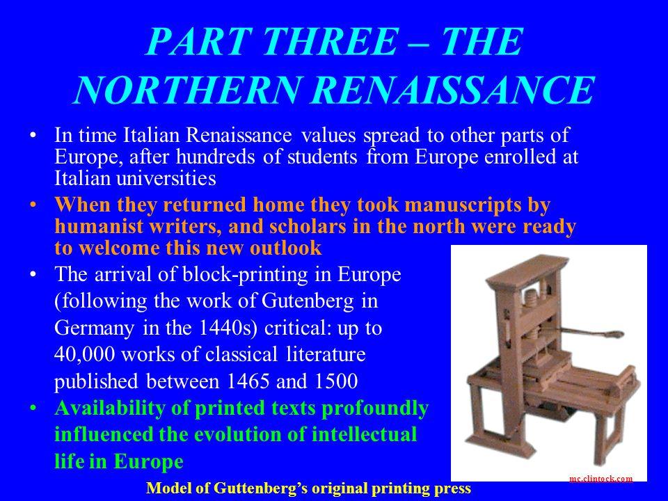 PART THREE – THE NORTHERN RENAISSANCE