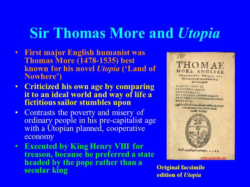Sir Thomas More and Utopia
