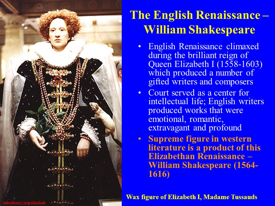 The English Renaissance – William Shakespeare