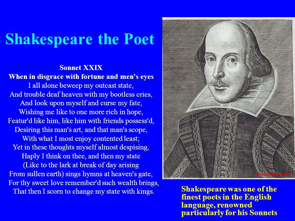 Shakespeare the Poet Sonnet XXIX.