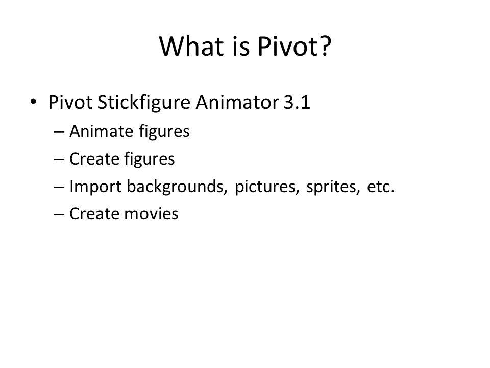 Pivot figures
