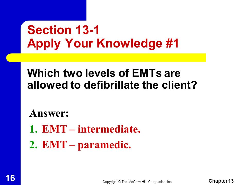 Section 13-1 Apply Your Knowledge #1