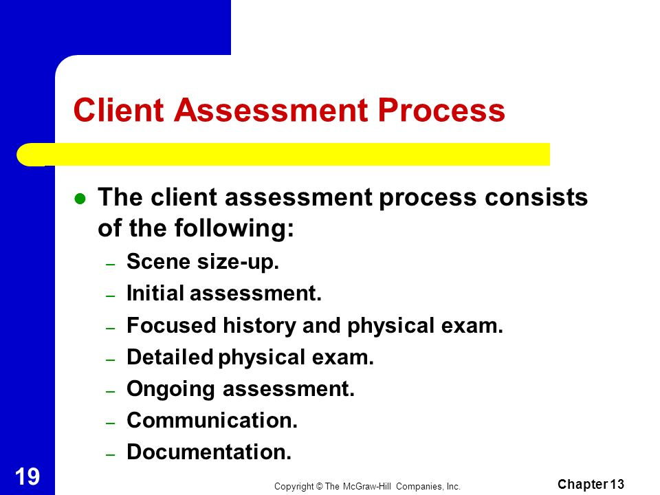 Client Assessment Process