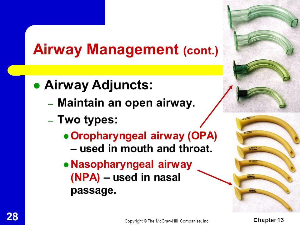 Airway Management (cont.)