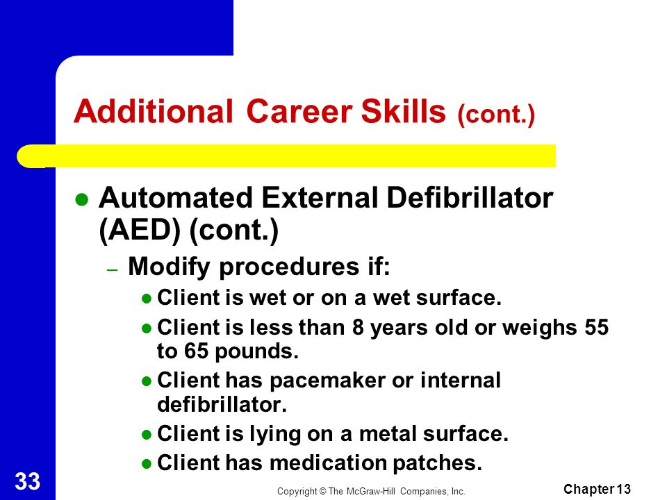 Additional Career Skills (cont.)