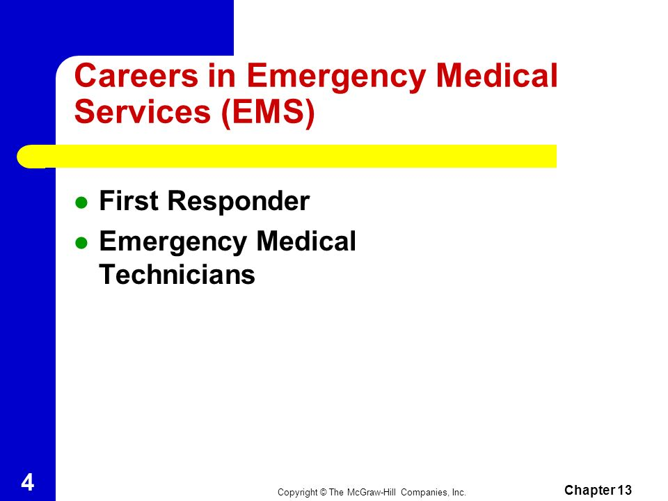 Careers in Emergency Medical Services (EMS)