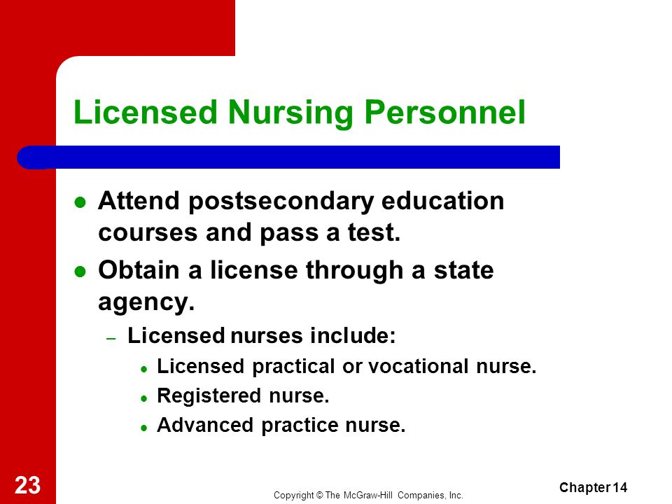 Licensed Nursing Personnel