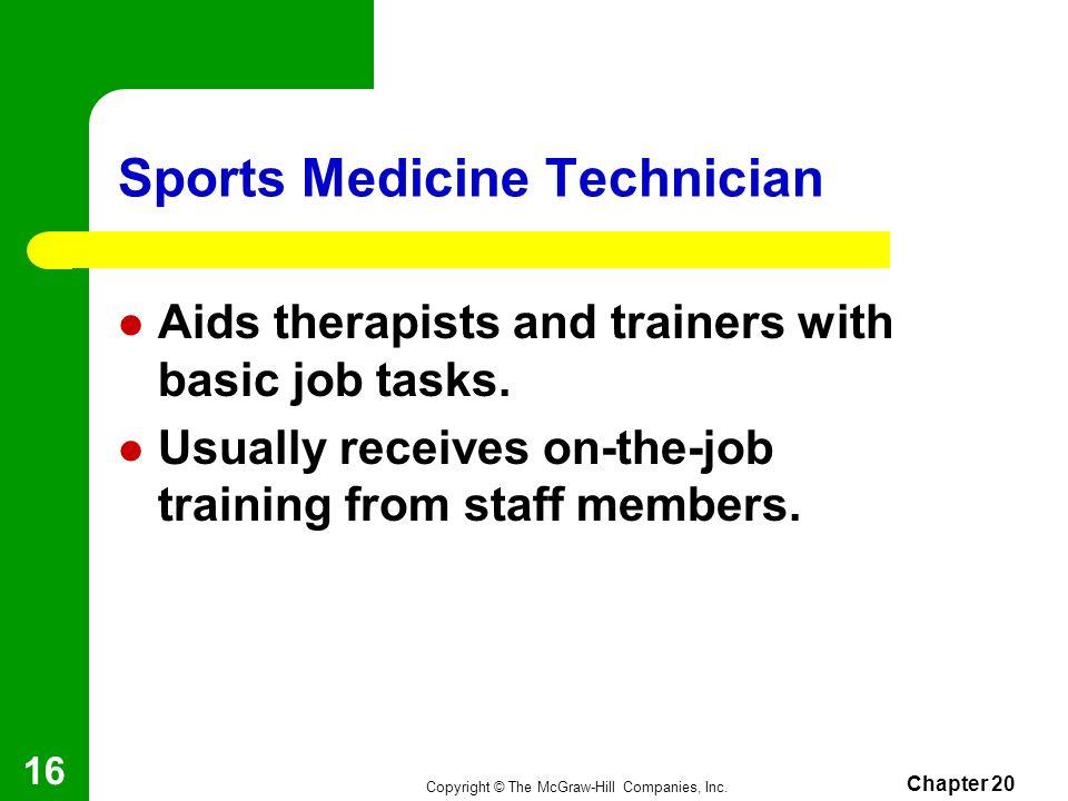 Sports Medicine Technician
