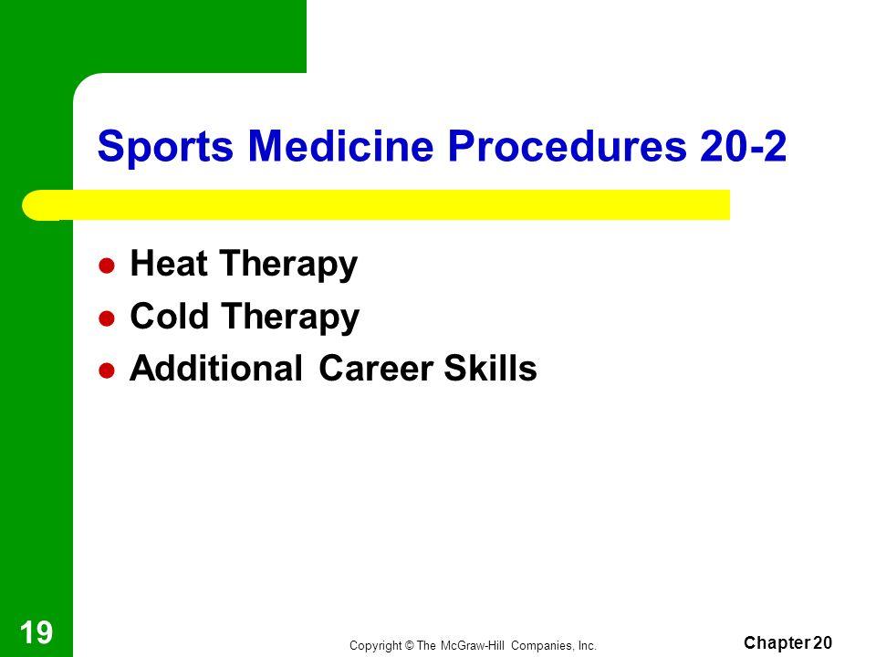 Sports Medicine Procedures 20-2
