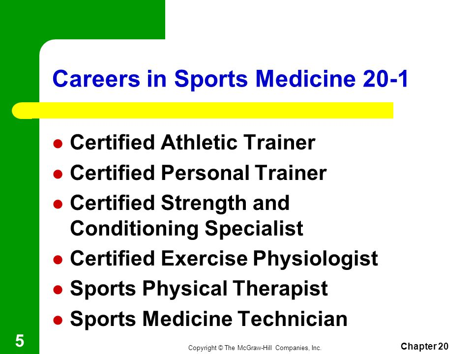 Careers in Sports Medicine 20-1
