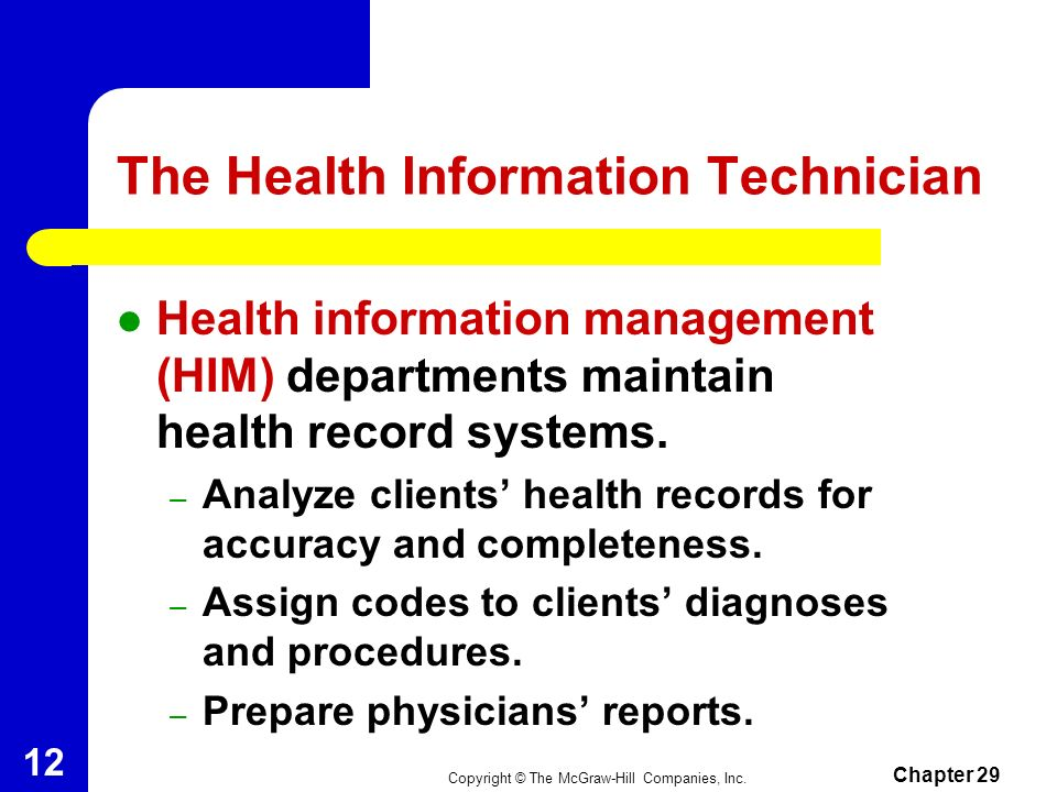 The Health Information Technician