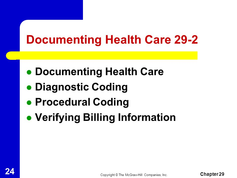 Documenting Health Care 29-2