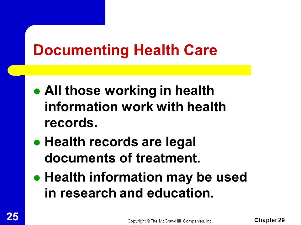 Documenting Health Care