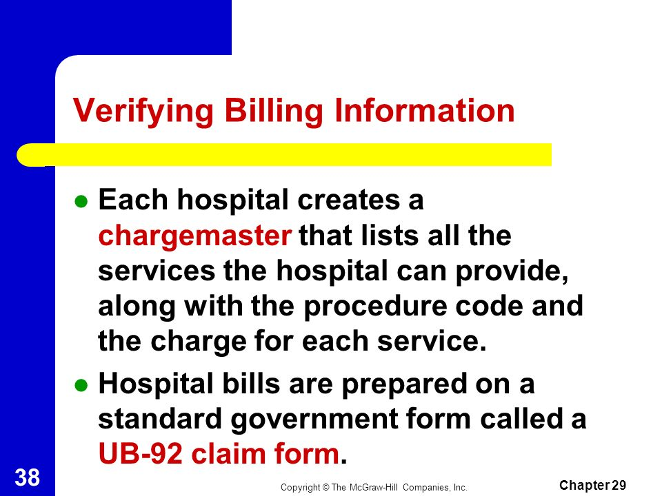 Verifying Billing Information