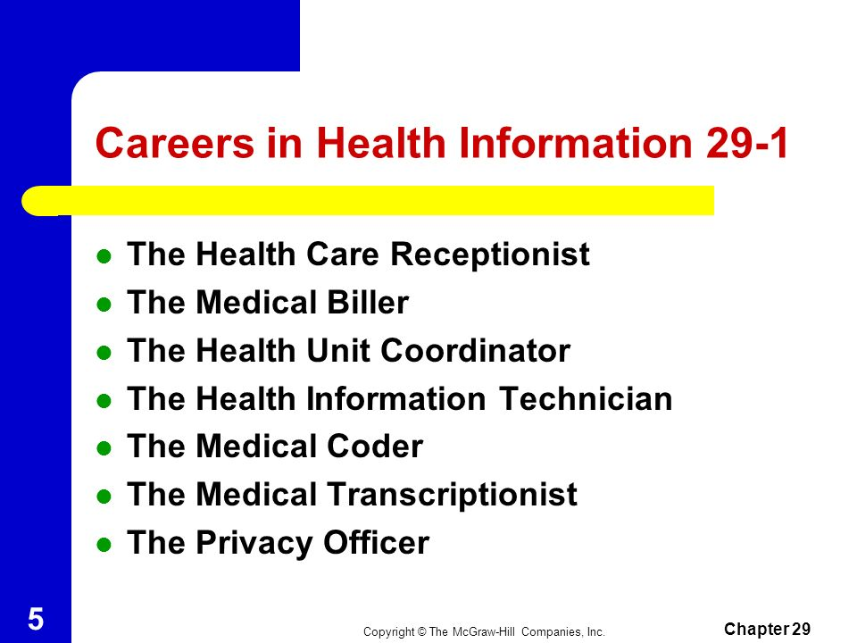 Careers in Health Information 29-1