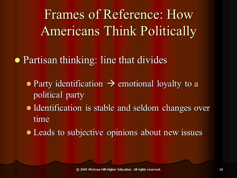 Frames of Reference: How Americans Think Politically