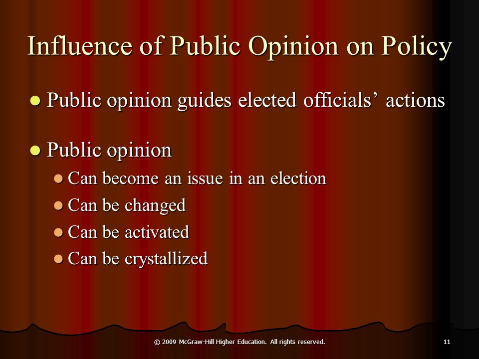Influence of Public Opinion on Policy