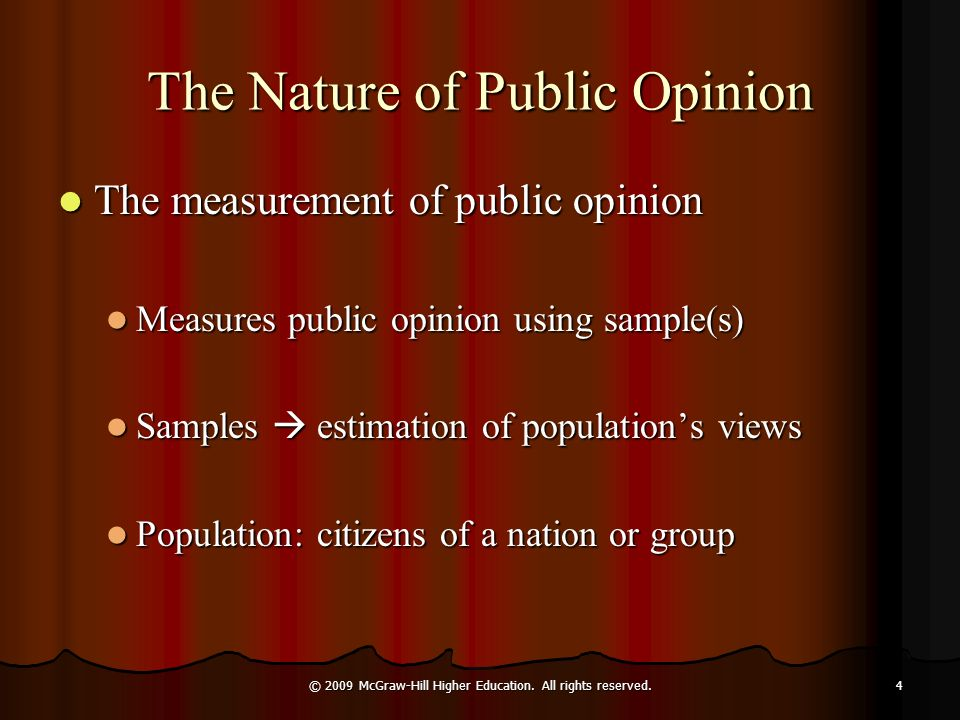 The Nature of Public Opinion
