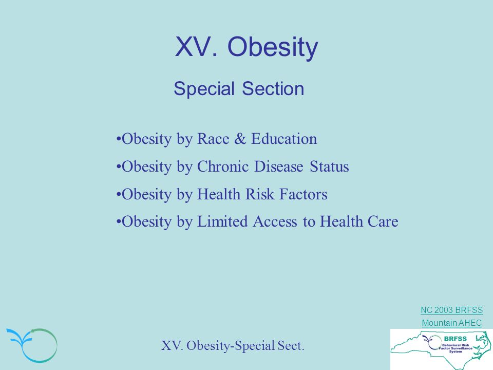 XV. Obesity Special Section Obesity by Race & Education