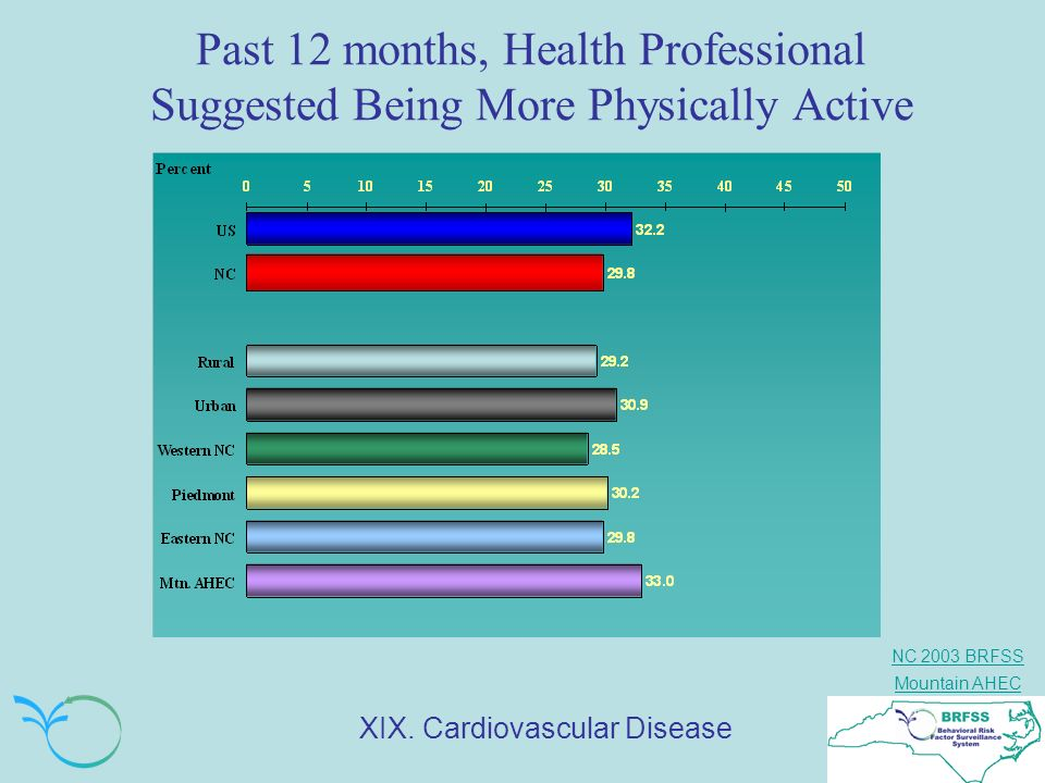 Past 12 months, Health Professional Suggested Being More Physically Active