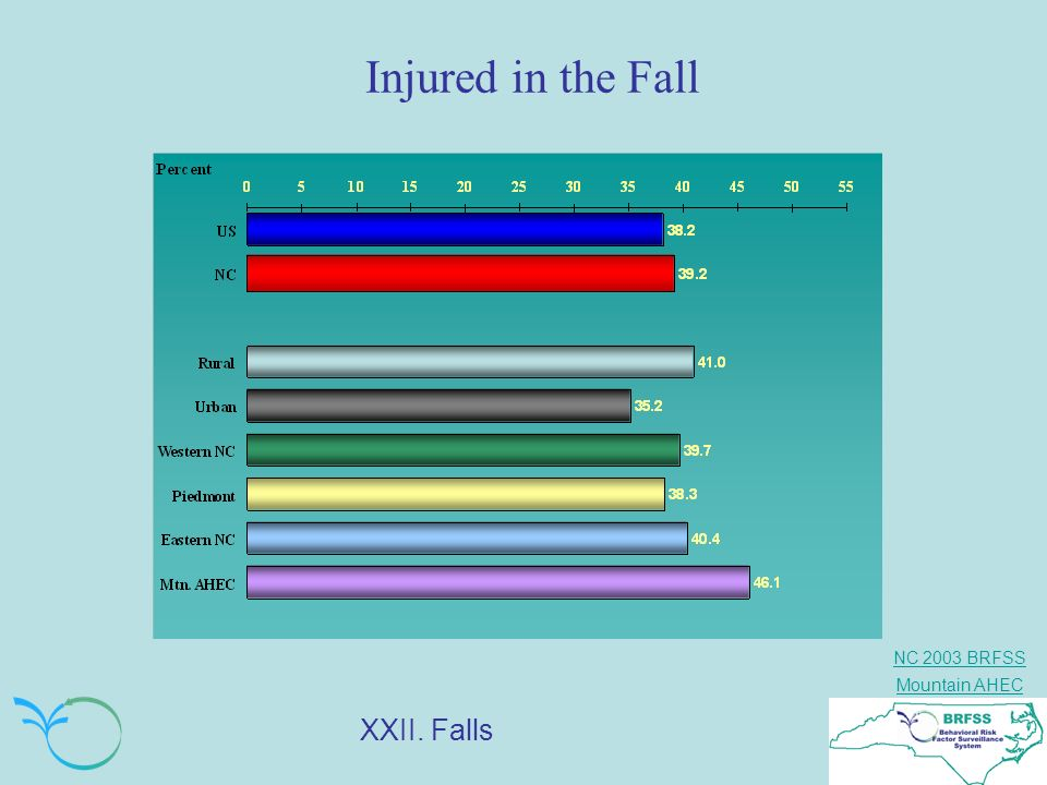 Injured in the Fall XXII. Falls Q. Were you injured