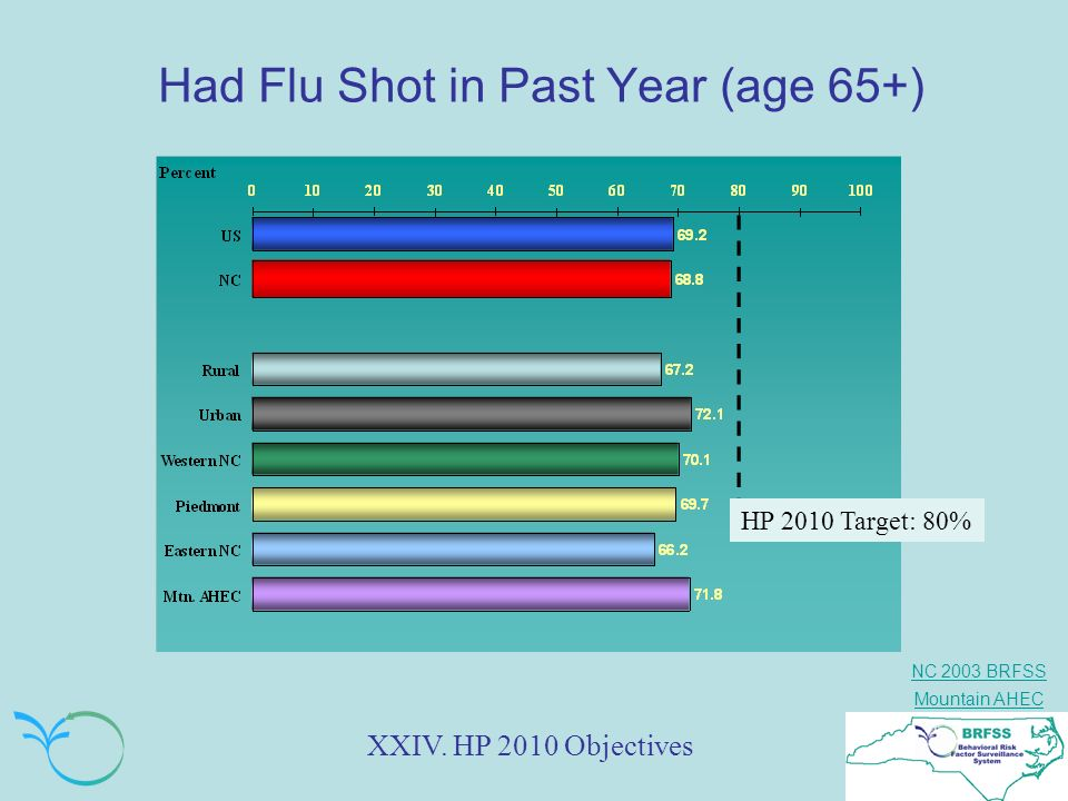 Had Flu Shot in Past Year (age 65+)