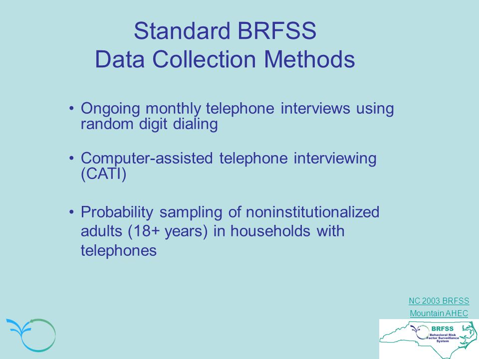 Standard BRFSS Data Collection Methods