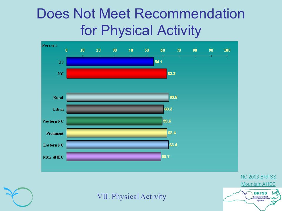 Does Not Meet Recommendation for Physical Activity