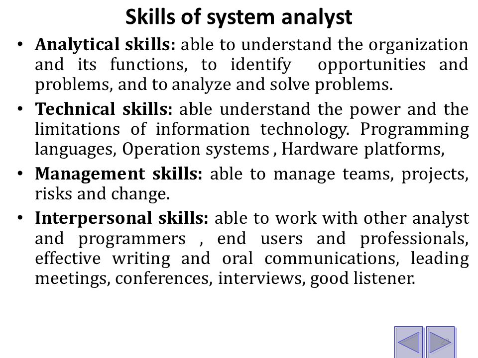Appropriate system analyst skills information technology essay