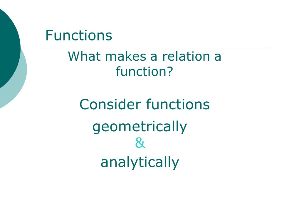 What makes a relation a function