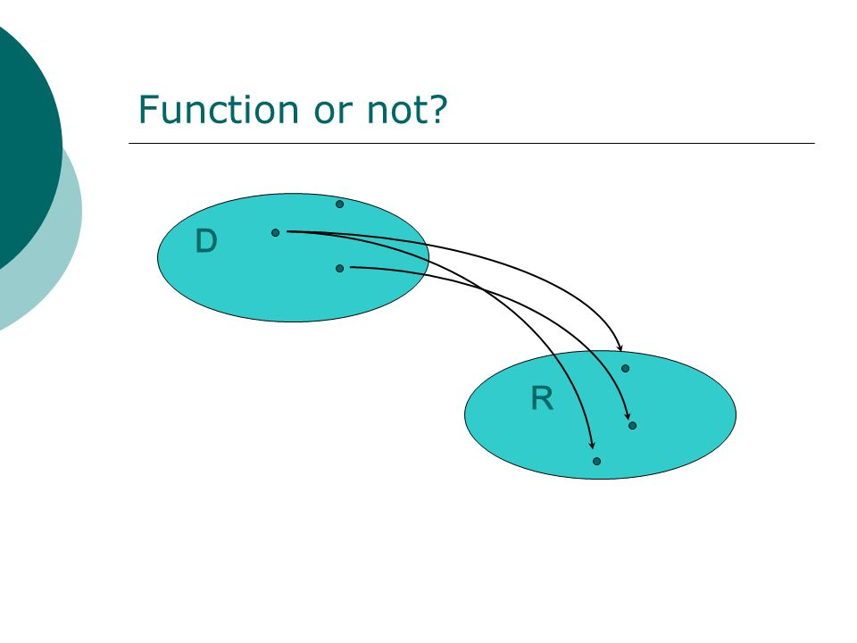 Function or not D R