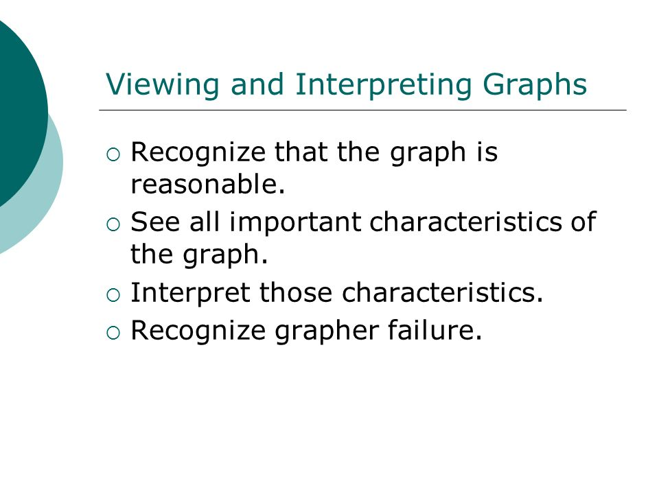 Viewing and Interpreting Graphs