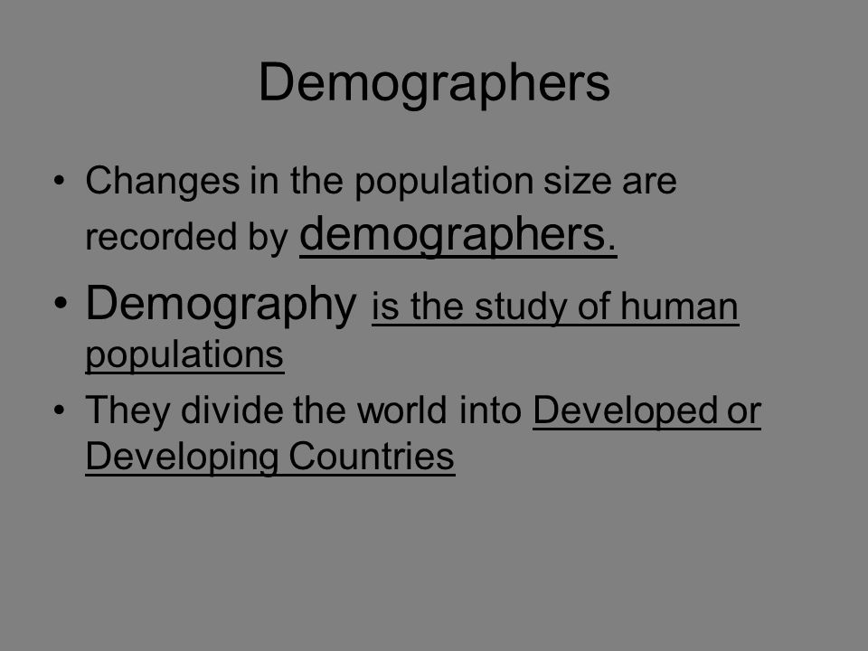 What Do Demographers Study? | Reference.com