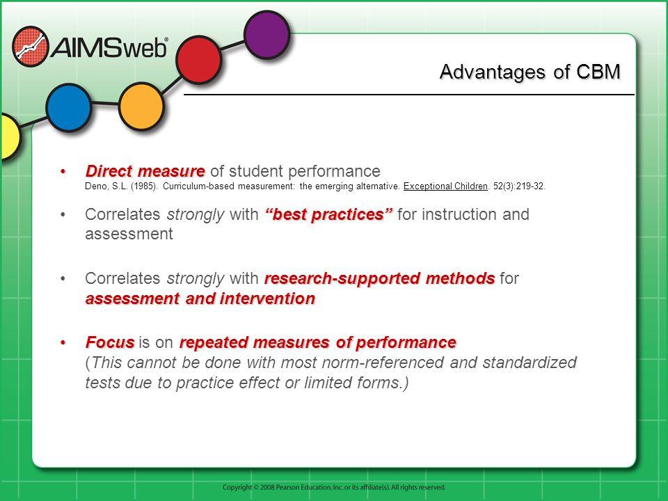 Advantages of CBM