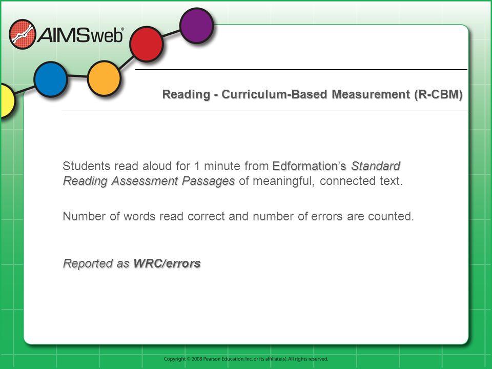 Reading - Curriculum-Based Measurement (R-CBM)
