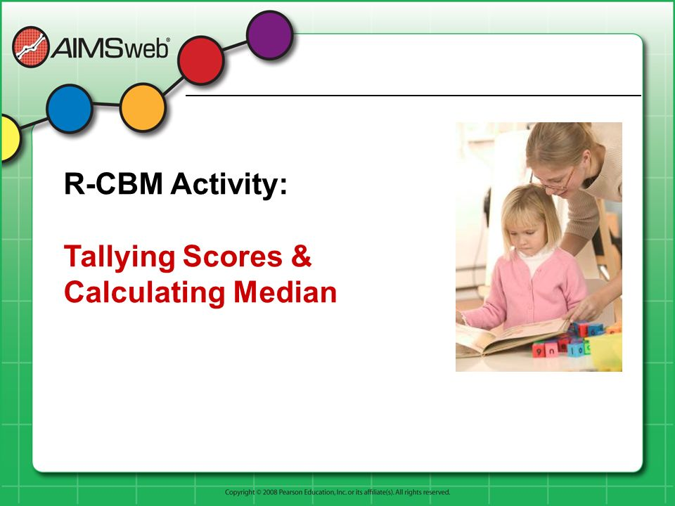 R-CBM Activity: Tallying Scores & Calculating Median