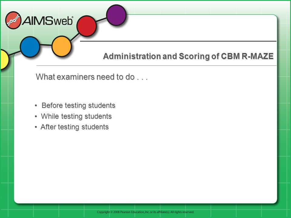 Administration and Scoring of CBM R-MAZE