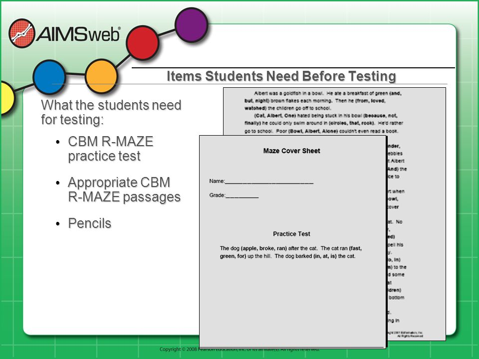 Items Students Need Before Testing