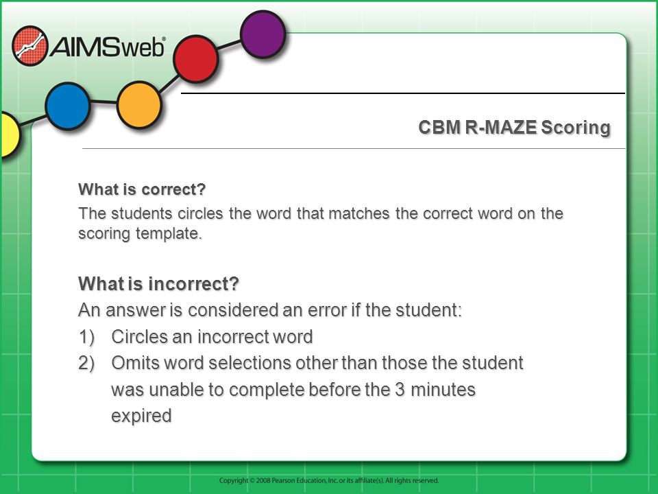 An answer is considered an error if the student: