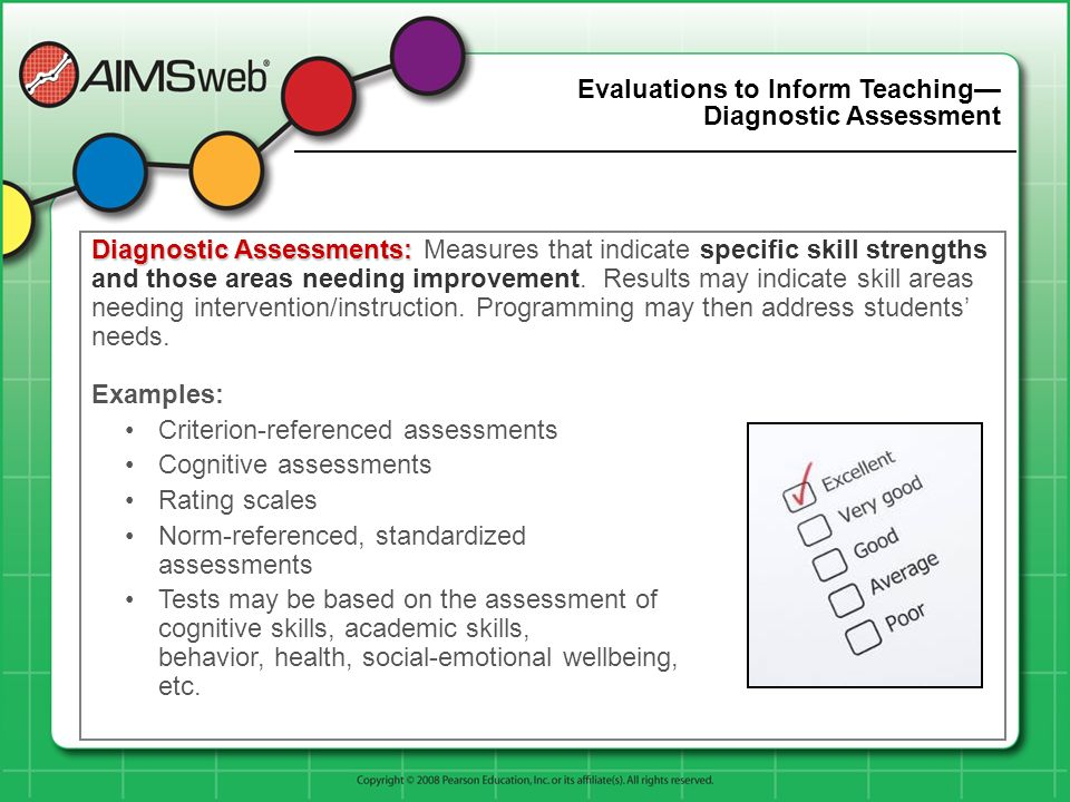 Evaluations to Inform Teaching— Diagnostic Assessment